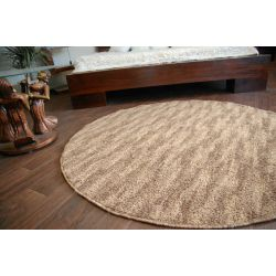 Carpet circle NEW WAVES dark beige