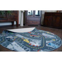Carpet circle CARS grey