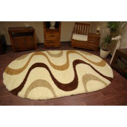Carpet SHAGGY oval design 2147 V