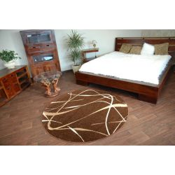 Carpet caramel round CHOCO brown