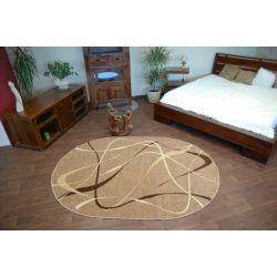 Carpet caramel oval CHOCO walnut