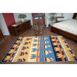 Carpet FRYZ TULIPS navy blue
