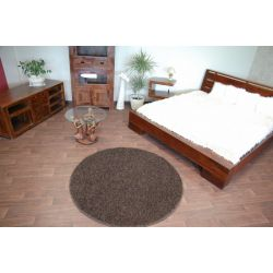 Carpet round MISTRAL dark brown