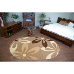 Carpet CARAMEL oval COCOA nut