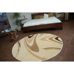 Carpet CARAMEL circle COFFEE cream