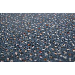Fitted carpet VELOUR TECHNO STAR 390 blue