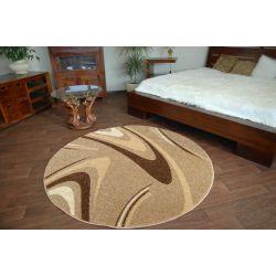 Carpet CARAMEL circle COFFEE nut