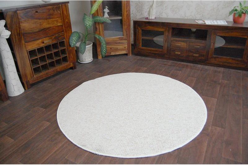 Cheap Amp Quality Carpets Round Feltback Casablanca Cream