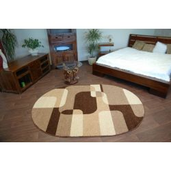 Carpet CARAMEL oval SEPIA brown