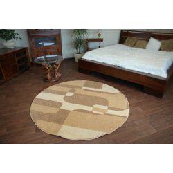 Carpet CARAMEL circle SEPIA nut