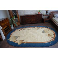 Carpet HEAT-SET DEKOR oval 702 blue