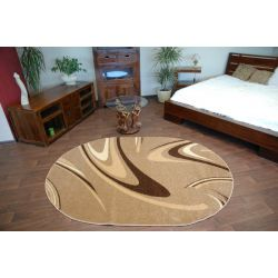 Carpet CARAMEL oval COFFEE nut