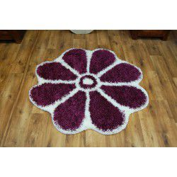 Carpet circle SHAGGY GUSTO Flower C300 violet