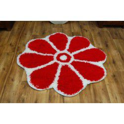 Carpet circle SHAGGY GUSTO Flower C300 red