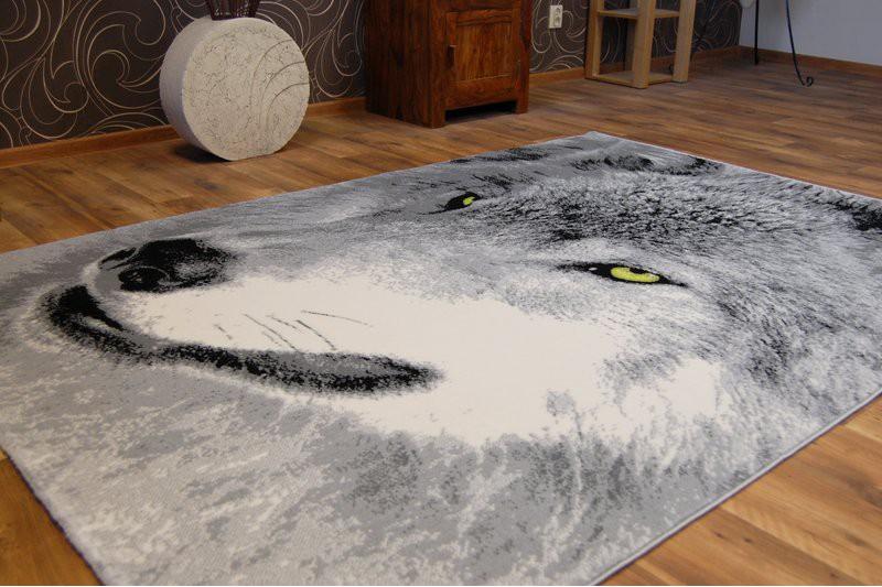 Original Animal Theme Carpets Flash Wolf Print Area