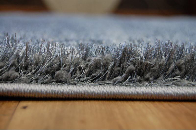 Fluffy Soft Area Rugs Shaggy Verona Grey Polyester Hq Carpets