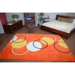 Carpet acrylic BALLS orange