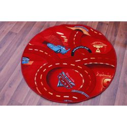 Carpet circle CARS red