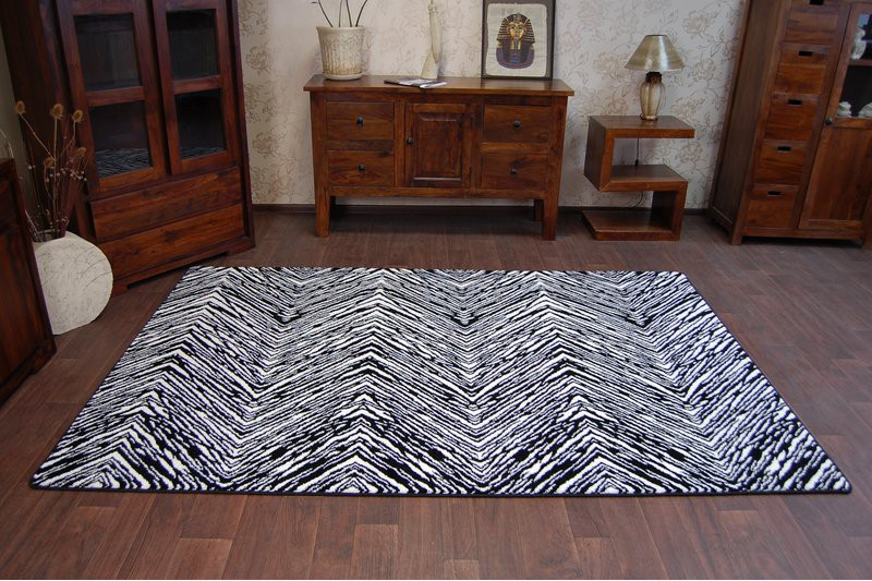 amazing thick modern rugs sketch white black 21 pattern 87784