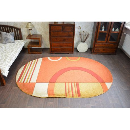 Carpet oval GRAND 8308 terra