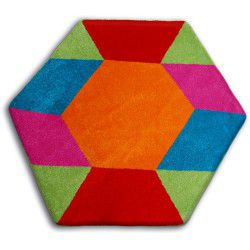 Carpet PAINT hexagon - 1550 blue