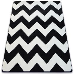 Carpet SKETCH - FA66 black/white - Zigzag