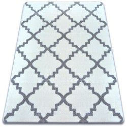 Carpet SKETCH - F343 white/grey trellis