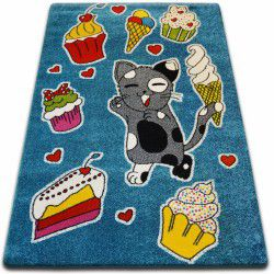 Carpet KIDS Cookie blue C415