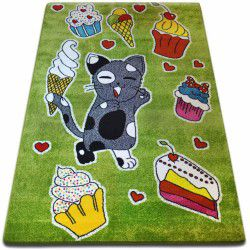 Carpet KIDS Cookie green C415