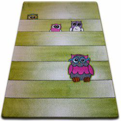 Carpet KIDS Owls green C412