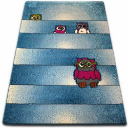Carpet KIDS Owls blue C412