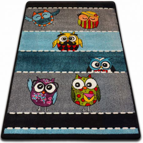 Carpet Kids Owls Grey C426