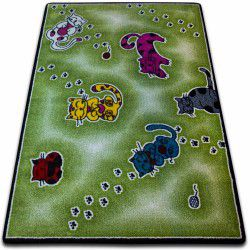 Carpet KIDS Cats green C428