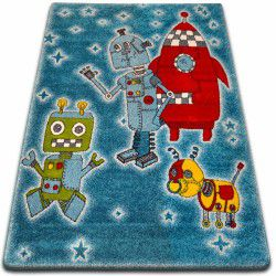 Carpet KIDS Robots blue C419