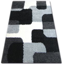 Carpet SHAGGY ZENA 2526 black / grey