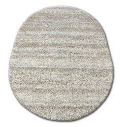 Carpet oval SHAGGY ZENA 3383 ivory / light beige