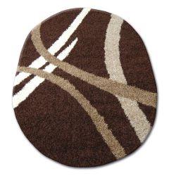 Carpet oval SHAGGY ZENA 4600 dark brown / dark beige