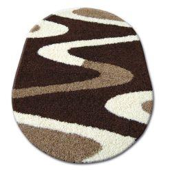 Carpet oval SHAGGY ZENA 3310 dark brown / ivory