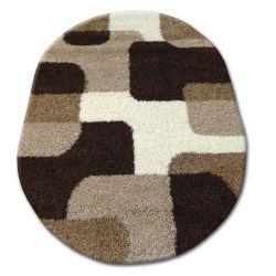 Carpet oval SHAGGY ZENA 2526 light beige / dark beige