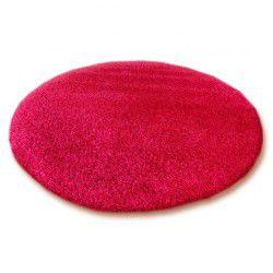 Carpet round SHAGGY 5cm burgundy