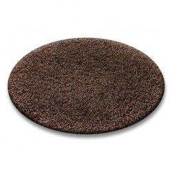 Carpet round SHAGGY 5cm brown