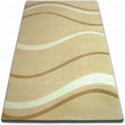 Carpet FOCUS - 8732 garlic WAVES LINES beige gold
