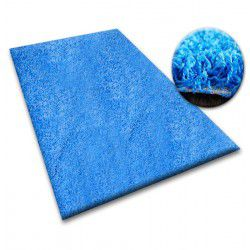 Carpet - wall-to-wall SHAGGY 5cm blue