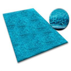 Carpet - wall-to-wall SHAGGY 5cm turquoise