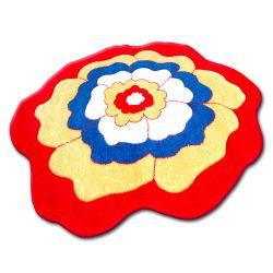 Carpet children CIRCLE HAPPY C273 FLOWER red