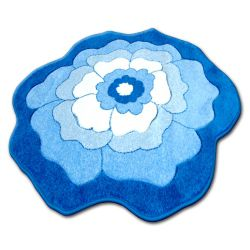 Carpet children CIRCLE HAPPY C273 FLOWER blue