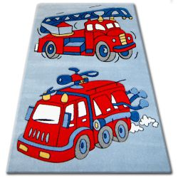 Carpet children HAPPY C190 blue Fire Truck