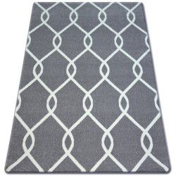 Carpet SKETCH - F934 grey /white trellis