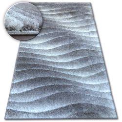 Carpet Shaggy SPACE 3D B222 grey