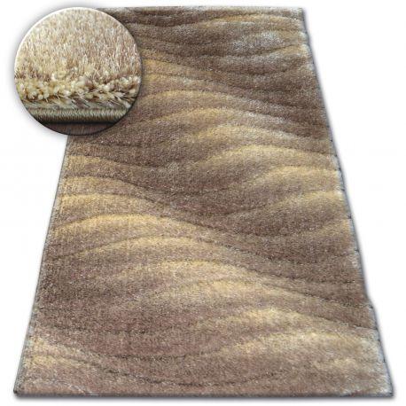 Carpet Shaggy Space 3d B222 Lbrown